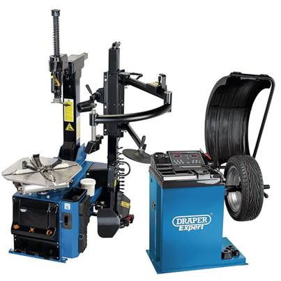 Draper Tyre Changer with Assist Arm and Wheel Balancer Kit