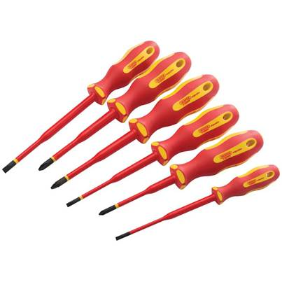 Draper Ergo Plus® Slimline VDE Approved Fully Insulated Screwdrivers (6 Piece)
