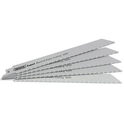Draper 150mm Reciprocating Saw Blades (10tpi) - Pack of 5 Blades