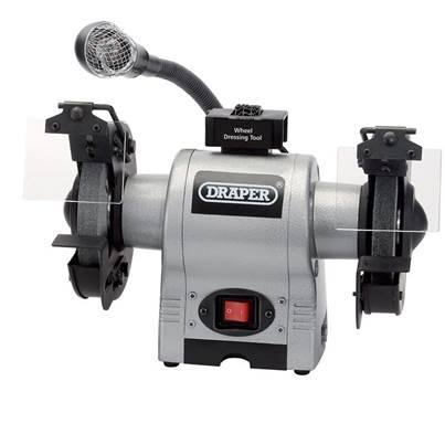 Draper 150mm Bench Grinder With Worklight (370W)