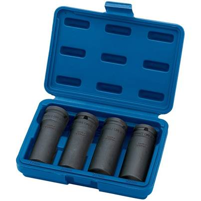 "Draper 1/2"" Sq. Dr. Deep Impact Nut and Bolt Remover Set (4 Piece)"