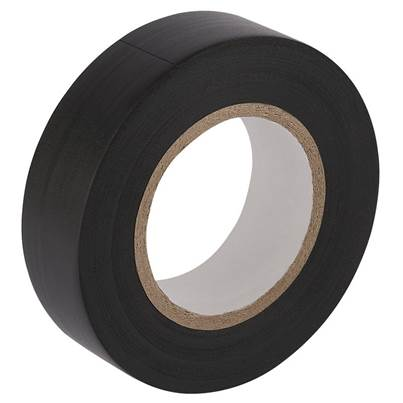 Draper 20M x 19mm Black Insulation Tape to BS3924 and BS4J10 Specifications