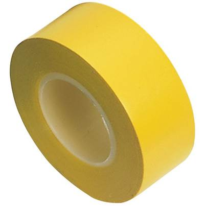 Draper 10M x 19mm Yellow Insulation Tape to BSEN60454/Type2 (Pack of 8)
