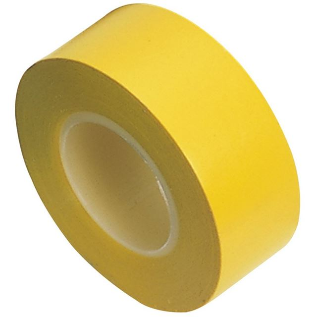 Draper Insulation Tape to BSEN60454/Type2, 10m x 19mm, Yellow (Pack of 8)