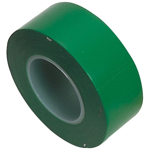 Draper Insulation Tape to BSEN60454/Type2, 10m x 19mm, Green (Pack of 8)