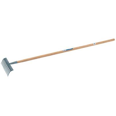 Draper Carbon Steel Garden Rake with Ash Handle