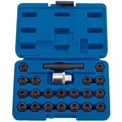 Draper BMW Locking Wheel Nut Set (22 Piece)
