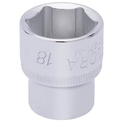 "Draper 18mm 3/8"" Sq. Dr. Elora Hexagon Socket"