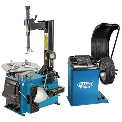 Draper Tyre Changer and Wheel Balancer Kit