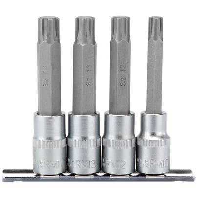 "Draper 1/2"" Sq. Dr. Ribe® Socket Bit Set (4 Piece)"