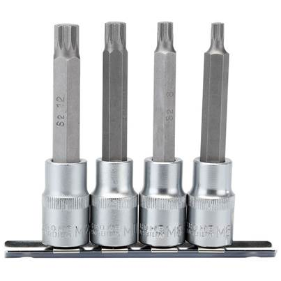 "Draper 1/2"" Sq. Dr. Spline Socket Bit Set (4 Piece)"