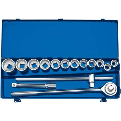 "Draper 3/4"" Sq. Dr. Metric Socket Set in Metal Case (15 Piece)"