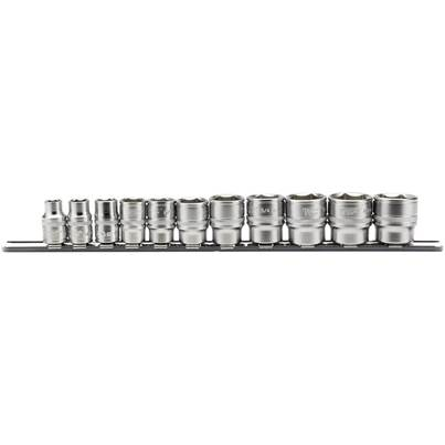 "Draper 3/8"" Sq. Dr. Imperial Socket Set on Metal Rail (11 Piece)"