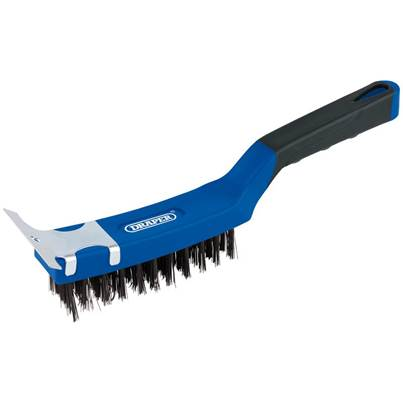Draper Wire Scratch Brush with Scraper (285mm)
