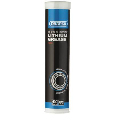 Draper Multi Purpose Lithium Grease - Cartridge (400ml)