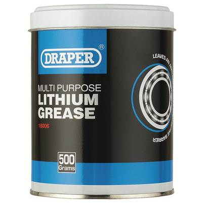 Draper Multi Purpose Lithium Grease - Tub (500g)