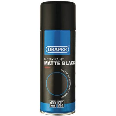 Draper Matt Black Spray Paint (400ml)