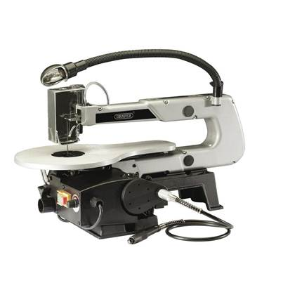 Draper 405mm Variable Speed Scroll Saw with Flexible Drive Shaft and Worklight (90W)