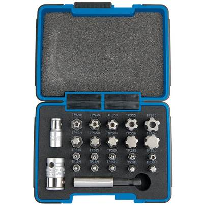 "Draper 1/4, 3/8"" Sq. Dr. Draper TX-STAR® Plus Bit Set (23 Piece)"