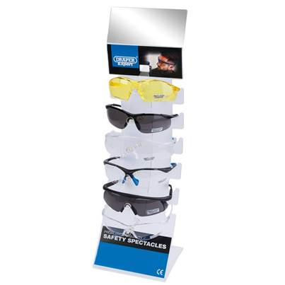 Draper Countertop Display of Six Safety Spectacles