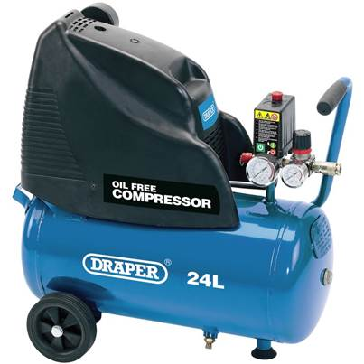 Draper 24L Oil-Free Air Compressor (1.1kW)