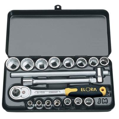 "Draper 3/8"" Sq. Dr. Elora Metric Socket Set (18 Piece)"
