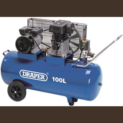 Draper 100L Belt-Driven Air Compressor (2.2kW)