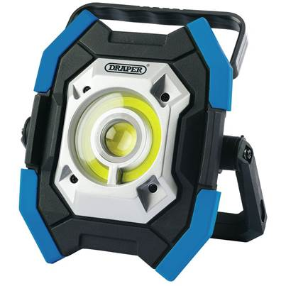 Draper Twin COB LED Rechargeable Worklight, 5W & 10W, 1000 Lumens, Blue