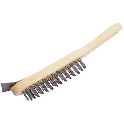 Draper 4 Row Wire Scratch Brush with Scraper (290mm)