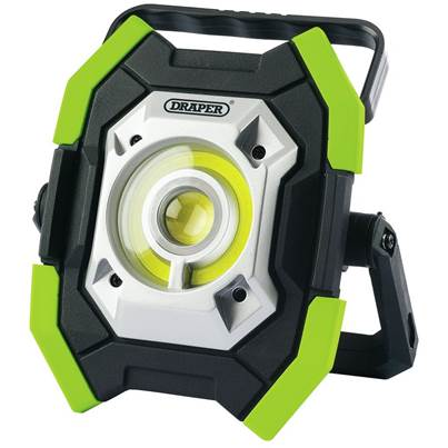 Draper Twin COB LED Rechargeable Worklight, 5W & 10W, 1000 Lumens, Green