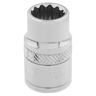 "Draper 3/8"" Sq. Dr. Hi-Torq® 12 Point Socket (10mm)"