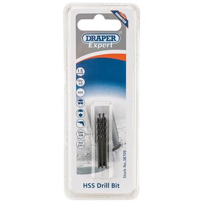 Draper 1.5mm HSS Drills Card Of 10