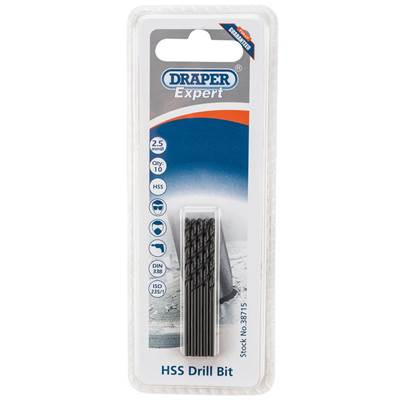Draper 2.5mm HSS Drills Card Of 10