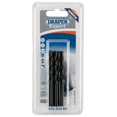 Draper 5.0mm HSS Drills Card Of 10