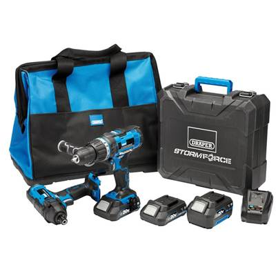 Draper Storm Force® 20V Cordless Impact Kit (7 Piece)