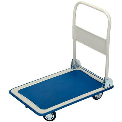 Platform Trolley with Folding Handle, 630 x 480 x 850mm, 150kg