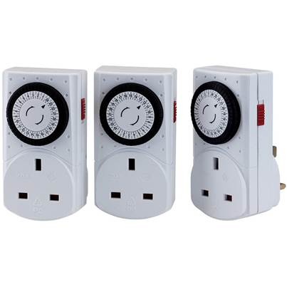 Pack of Three 230V 24 Hour Mechanical Timers