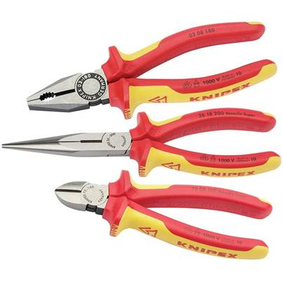 Draper Knipex 00 20 12 VDE Plier Assembly Pack (3 Piece)