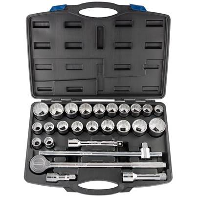 "Draper 3/4"" Sq. Dr. Combined MM/AF Socket Set (26 Piece)"