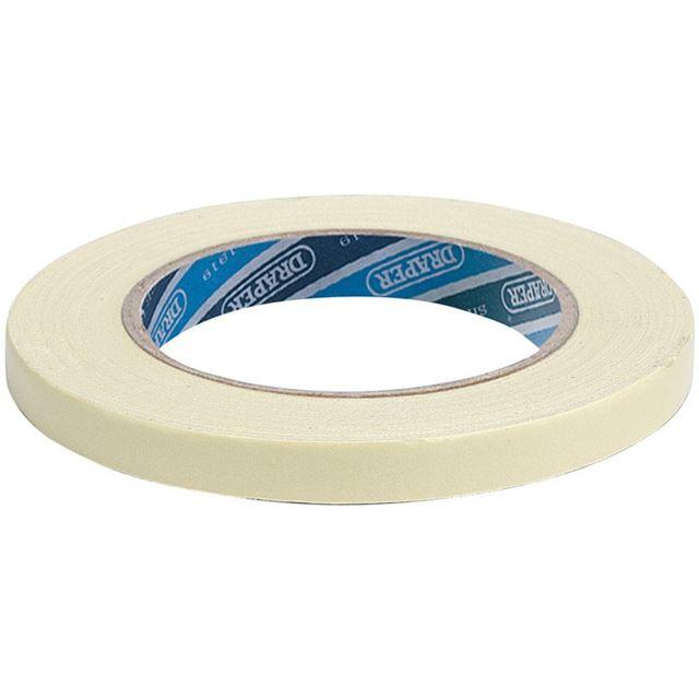Draper Double Sided Tape Roll, 18m x 12mm