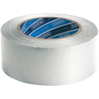 Draper 30M x 50mm White Duct Tape Roll