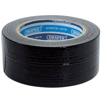 Draper 33M x 50mm Black Duct Tape Roll