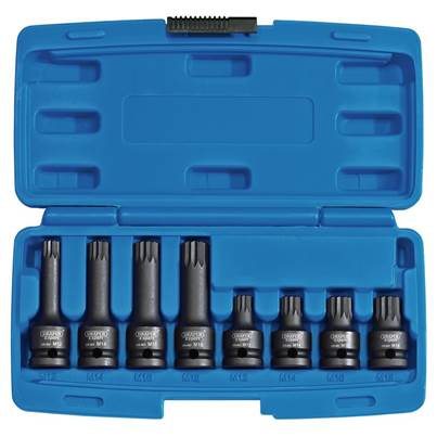 "Draper 1/2"" Sq. Dr. Tamper Proof Impact Spline Set (8 Piece)"