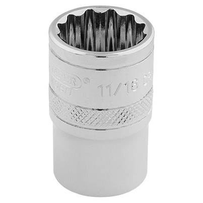 "Draper 3/8"" Sq. Dr. Hi-Torq® 12 Point Socket (11/16"")"