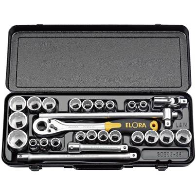 "Draper 1/2"" Sq. Dr. Elora Metric and Imperial Socket Set (28 Piece)"