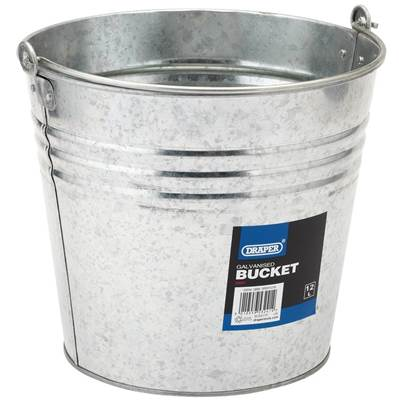 Draper Galvanised Steel Bucket (12L)