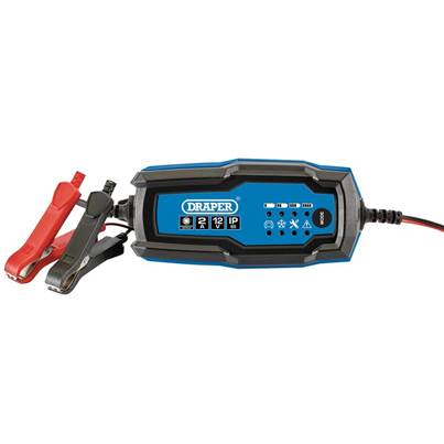 Draper 12V Smart Charger and Battery Maintainer (2A)