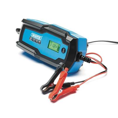 Draper 6V/12V Smart Charger and Battery Maintainer (10A)