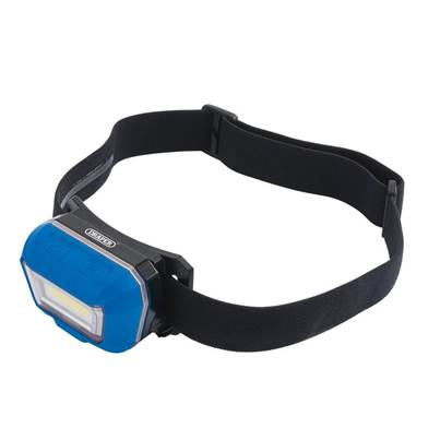 Draper Rechargeable COB LED Head Lamp (3W)