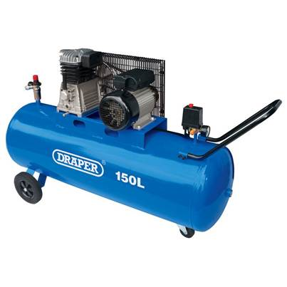 Draper 150L Belt-Driven Air Compressor (2.2kW)
